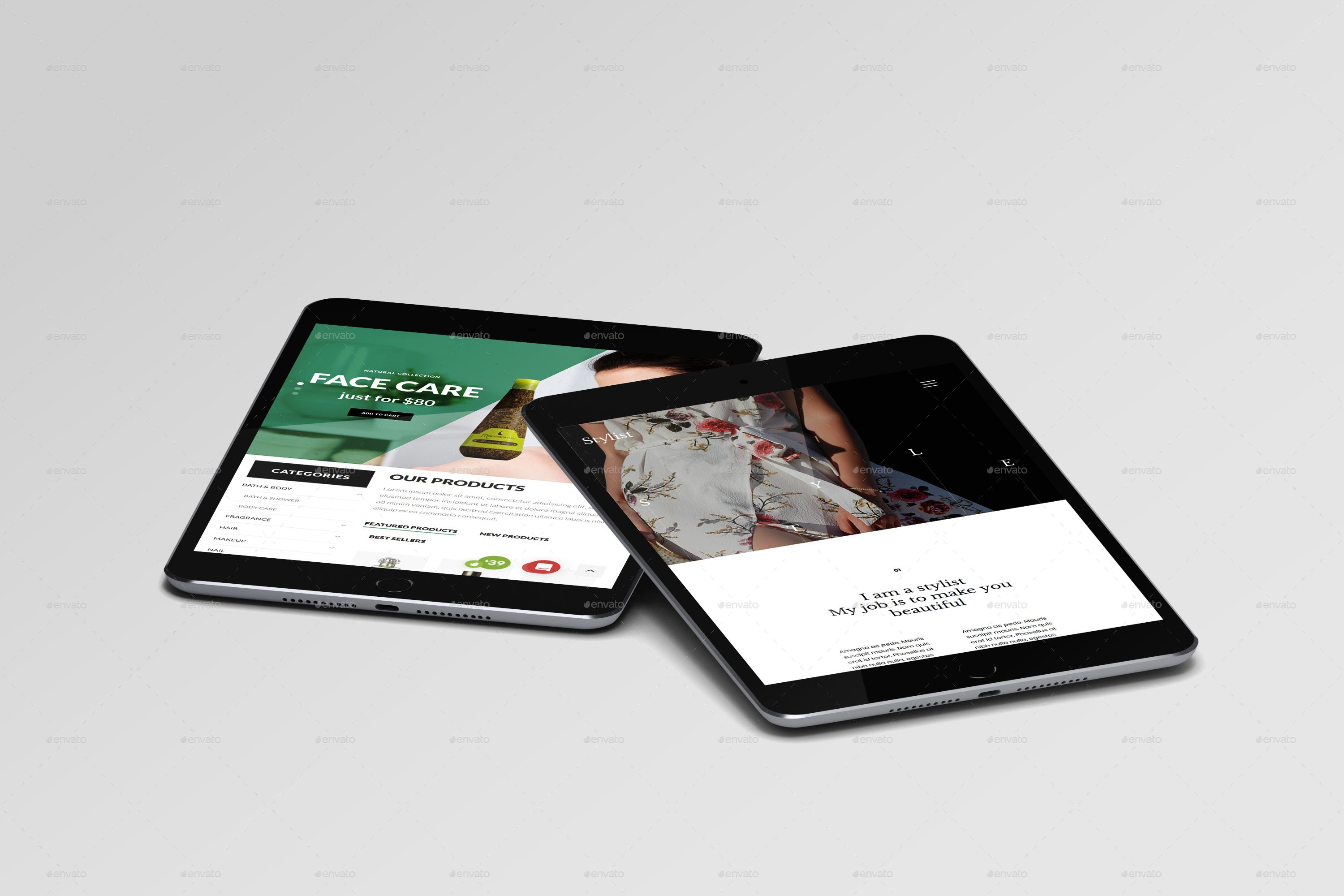 Multi Devices Responsive Website Mockup Bundle #Ad #Responsive