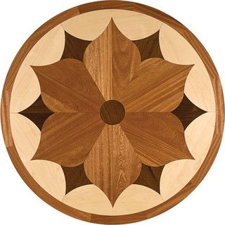 Oshkosh Designs Charleston Inlay Medallion Contemporary Wood