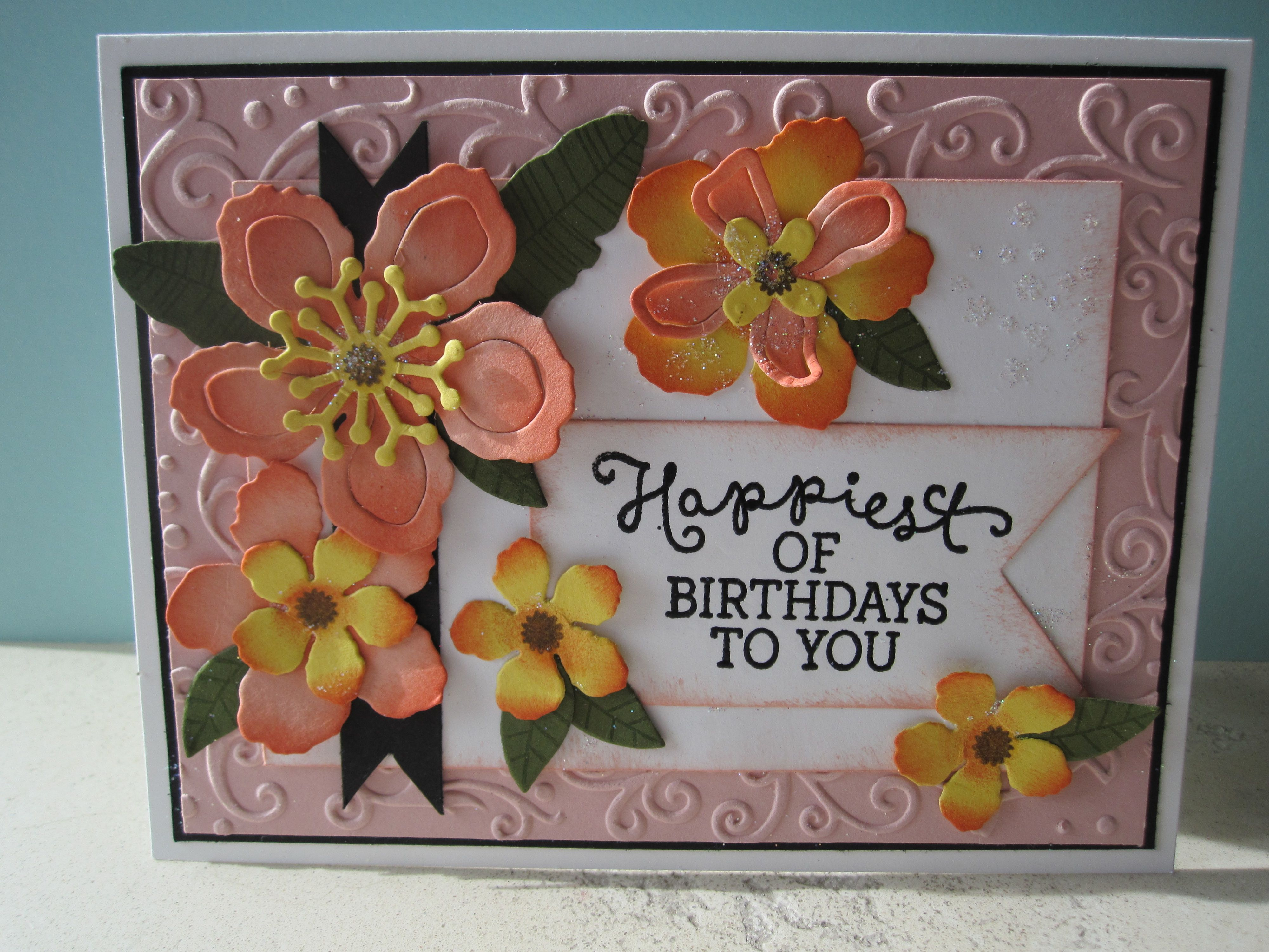 Botanical blooms stamp set from stampin up card made by debbie reed
