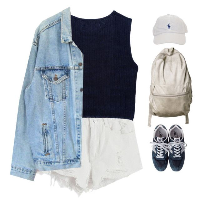 """Untitled #194"" by morafersure ❤ liked on Polyvore featuring Chicnova Fashion, Miu Miu, Levi's and New Balance"