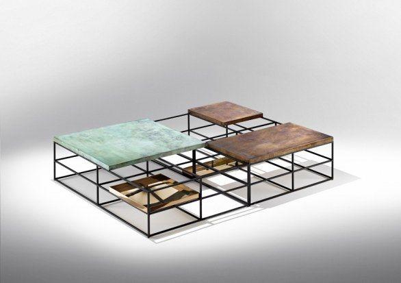 Fuorisalone 2013 milano nucleo presenta i tavolini cages for Tavolini per ufficio