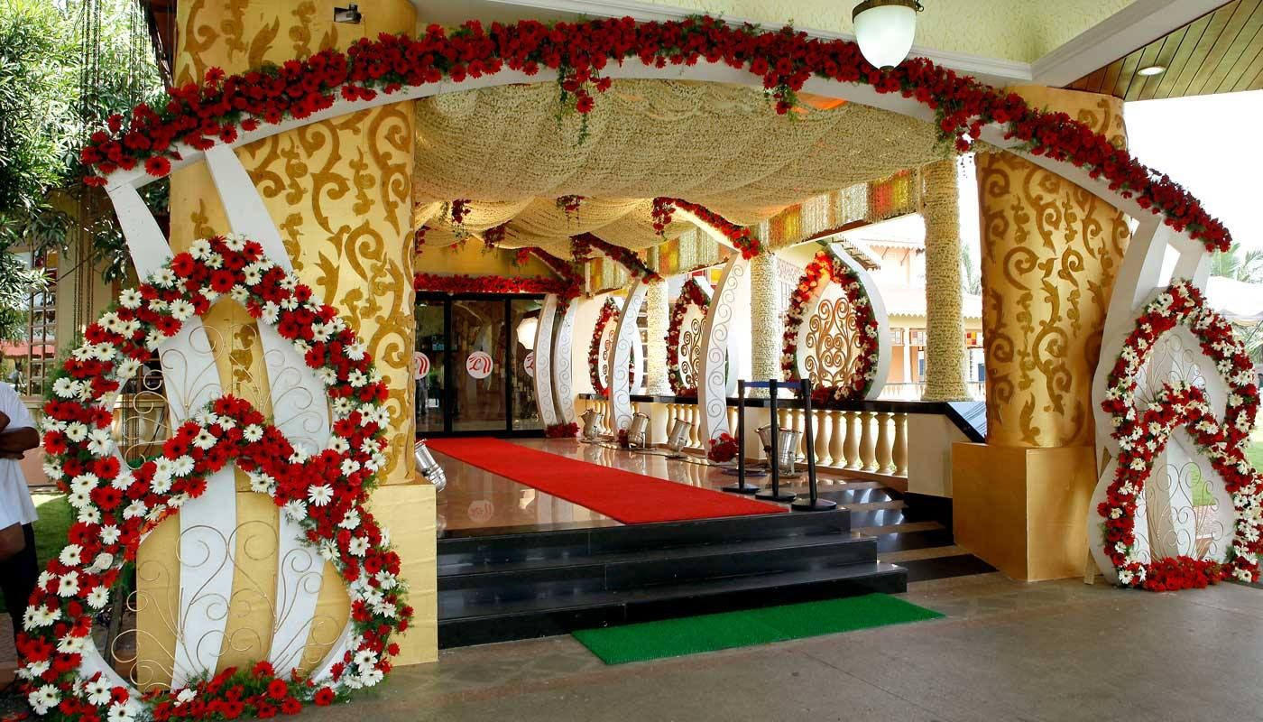 Wedding Hall Entrance Decoration Bharatkirayabhandar Wedding