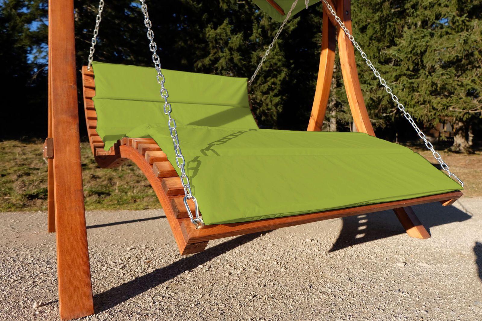 Design Hollywoodliege Gartenliege Hangeliege Doppelliege Modell Aruba Loung Grun Ebay Gartenliege Doppelliege Gruner Garten