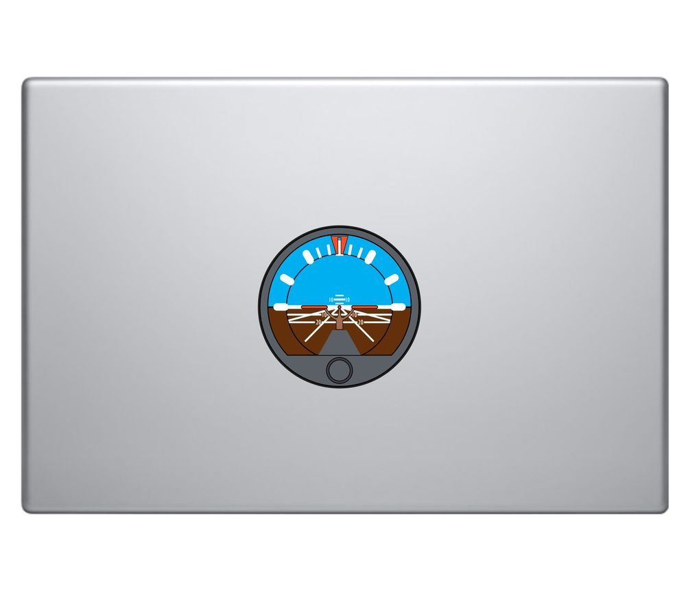 Aircraft Attitude Indicator Vinyl Decal Sticker MacBook Pro Air Apple Aviation