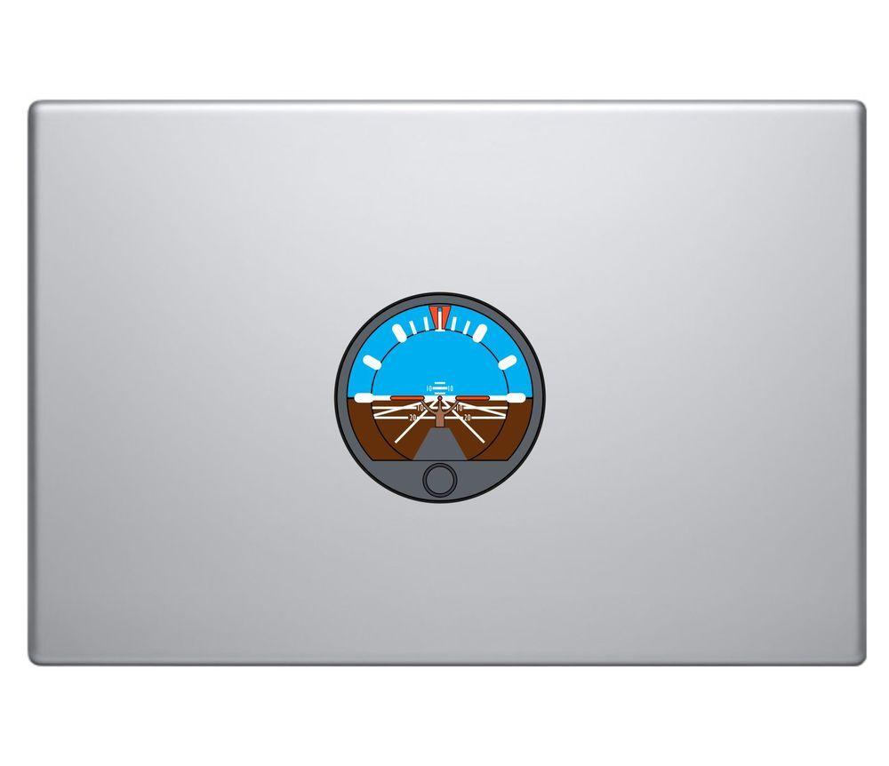 Aircraft Attitude Indicator Vinyl Decal Sticker MacBook Pro Air Apple Aviation