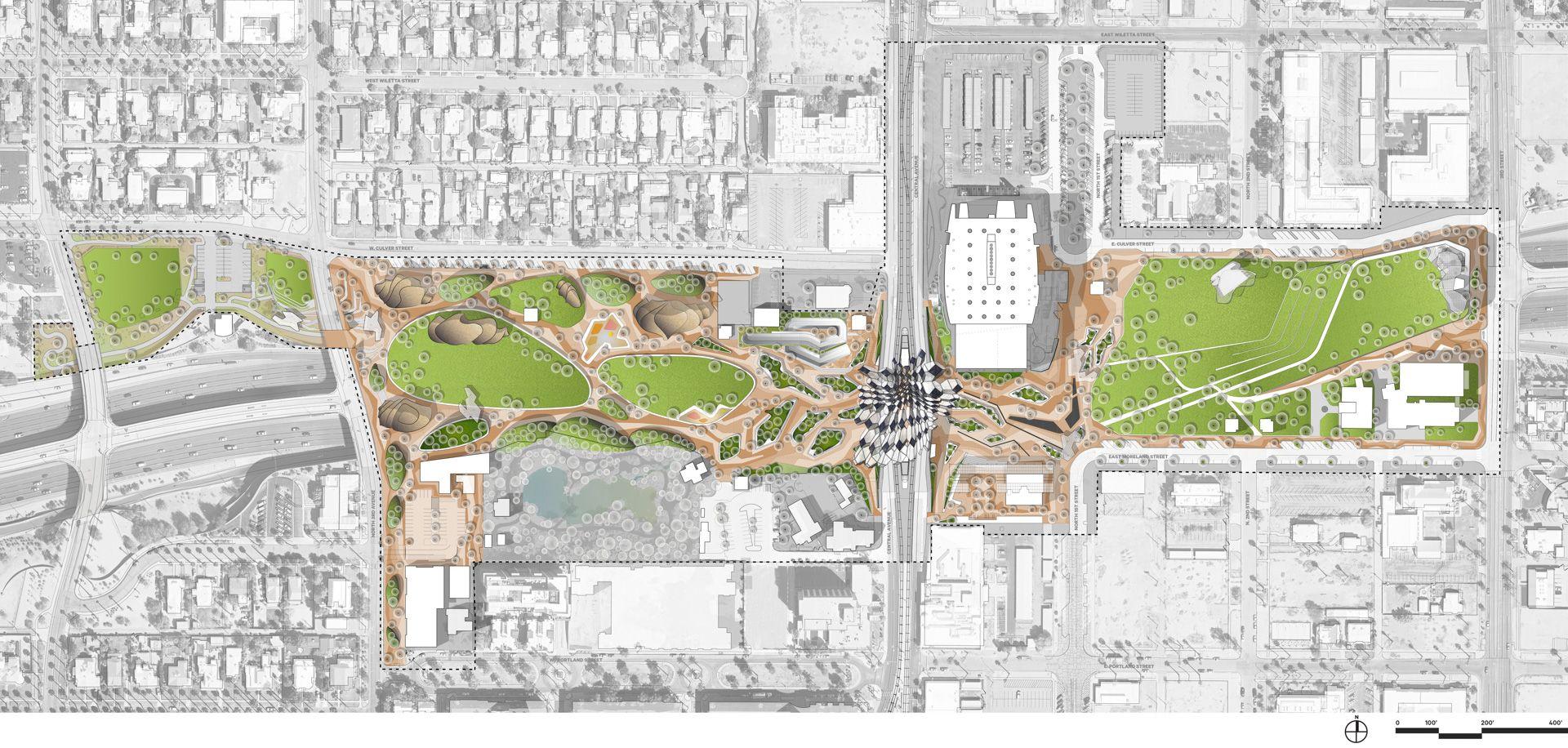 Hance Park Landscape Architecture Drawing Garden Design Plans Landscape Projects