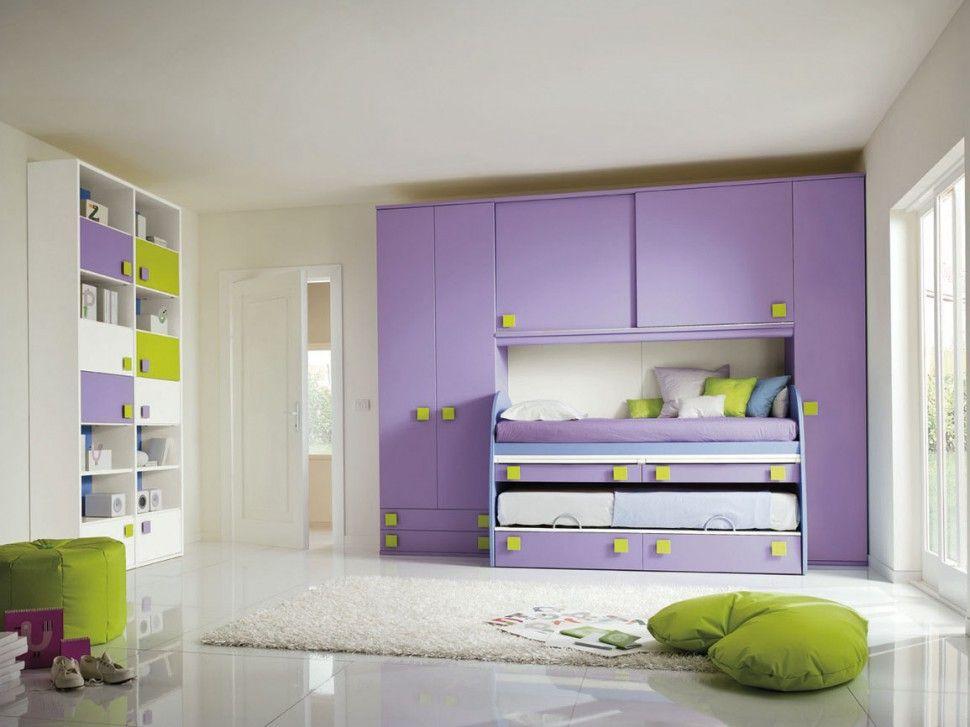 Colombini camerette ~ Camerette golf letto in lavanda lilla e bianco opaco