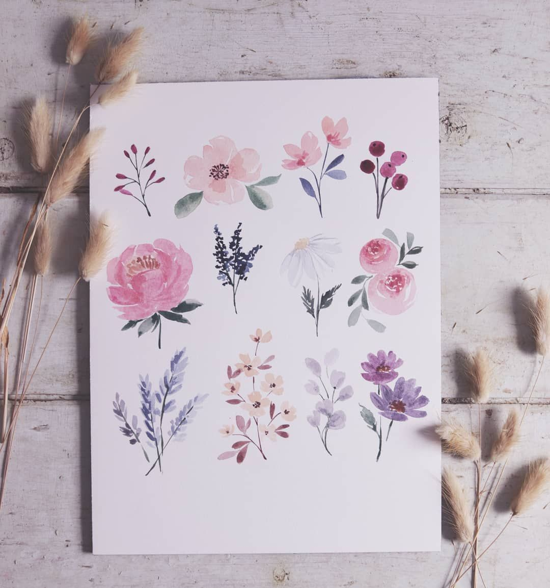 """Photo of Shayda Campbell on Instagram: """"It's time !! My video """"Every watercolor flower you will ever need"""" is now available! 🌺🌼🌹 Go to my channel and watch it! I'm super proud of … """""""