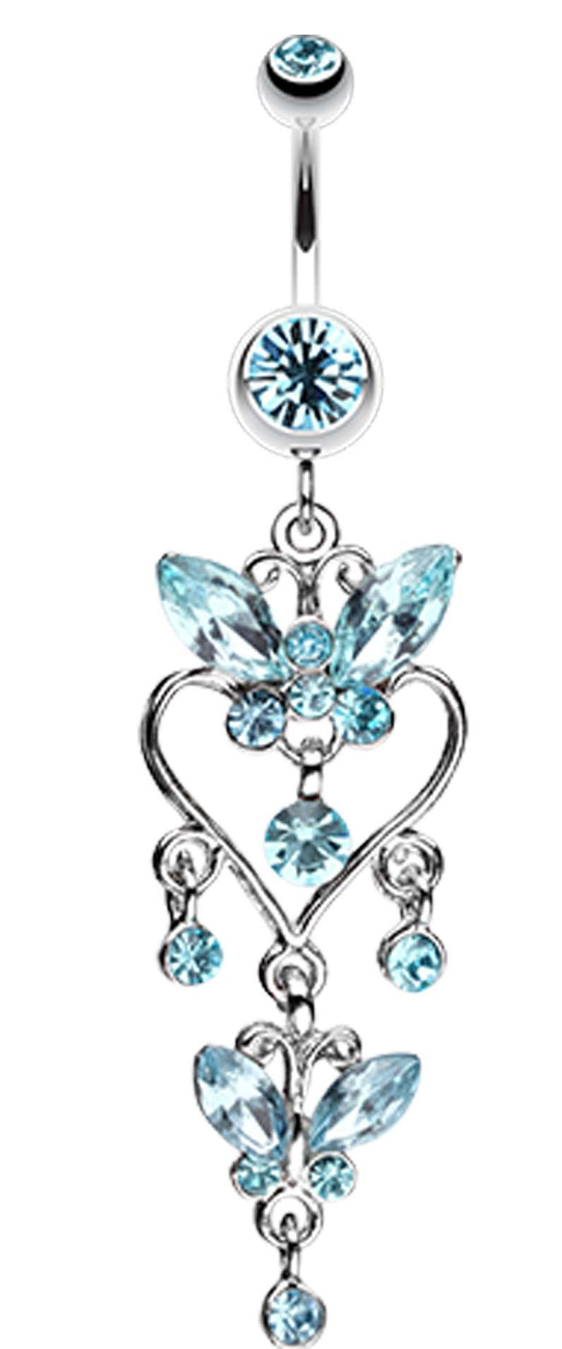 Butterfly Extravagance Belly Button Ring  Rings, Belly -1399