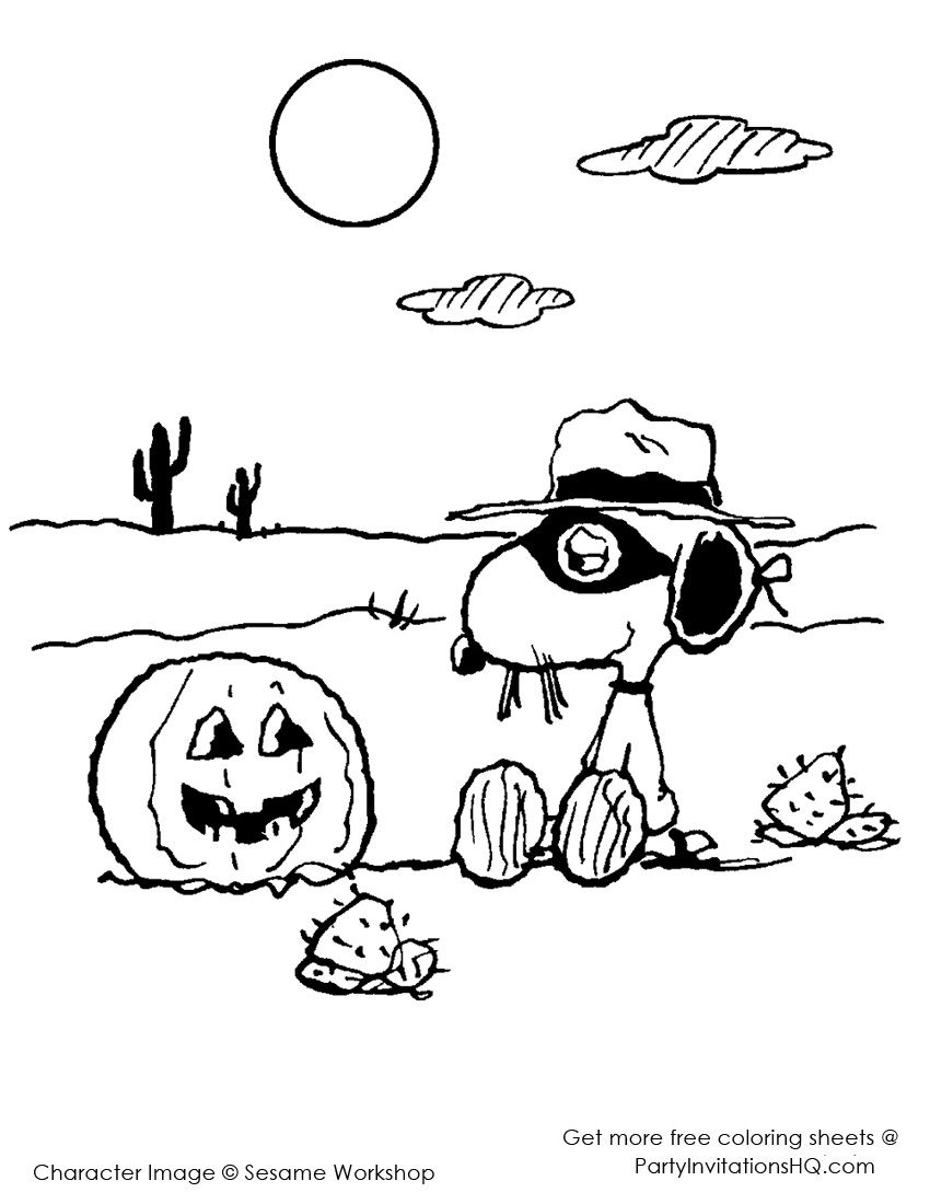 Spike Halloween Snoopy Halloween Halloween Coloring Pages Halloween Coloring