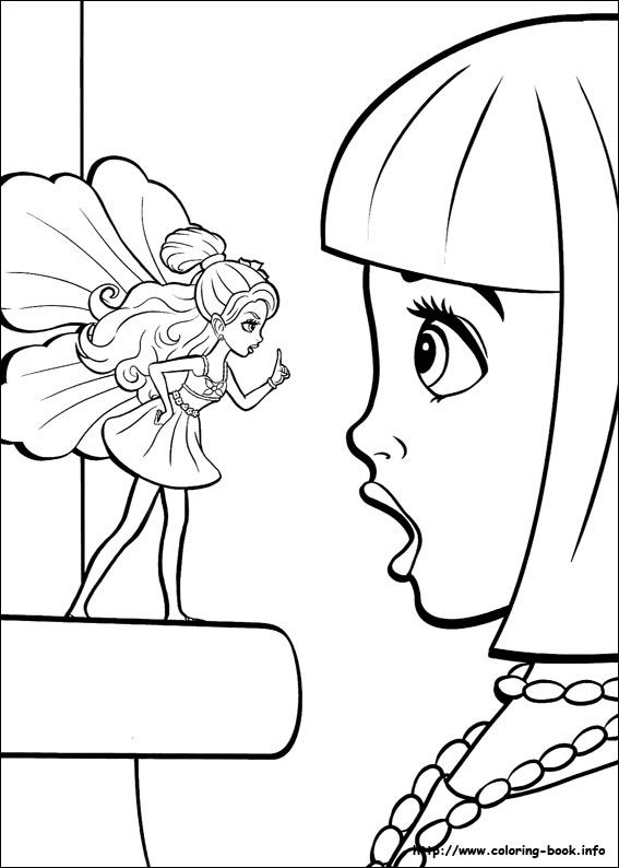 Barbie Thumbelina coloring picture Barbie Coloring Pages