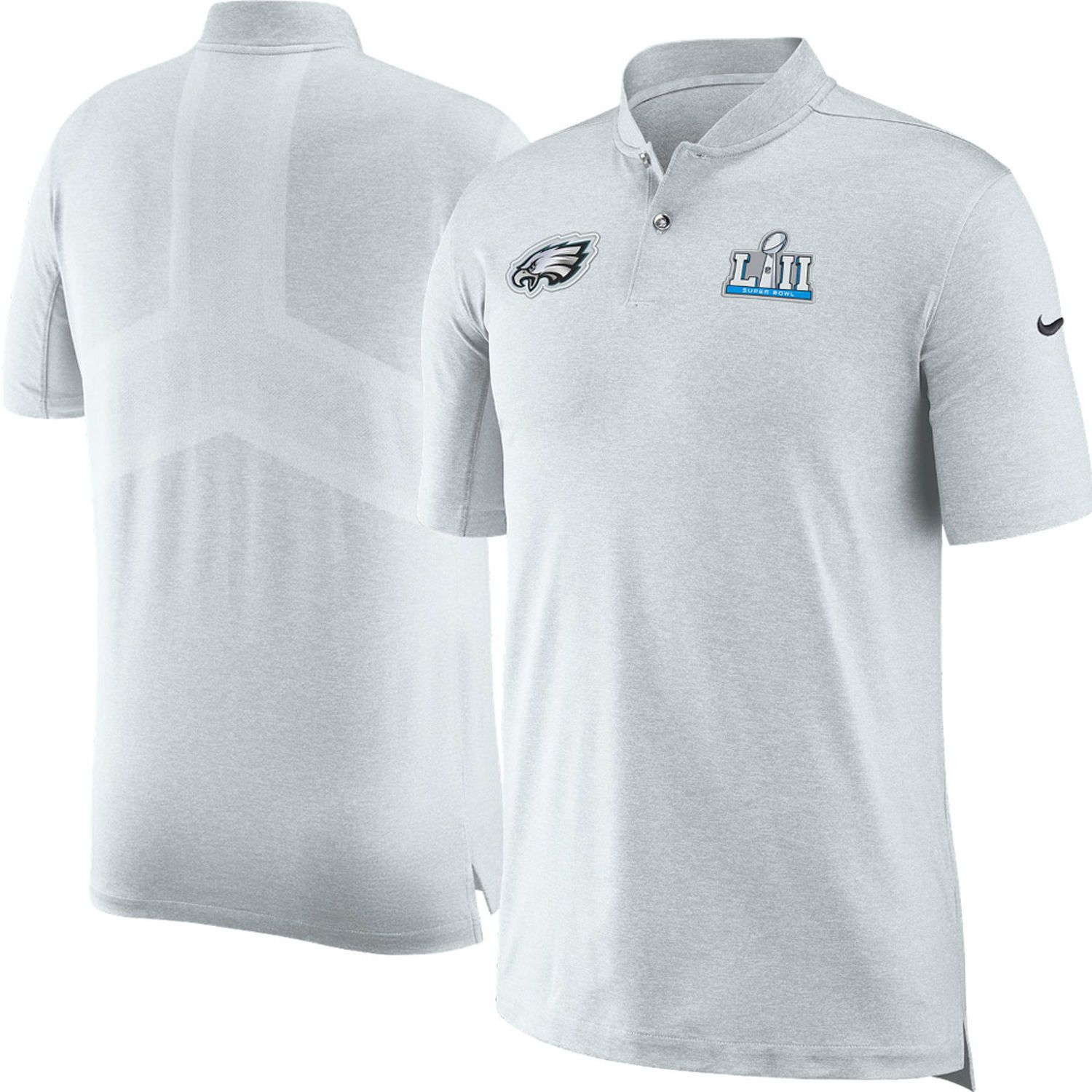 Men s Philadelphia Eagles Nike Platinum Super Bowl LII Bound Media Night  Polo 3fef03bd4