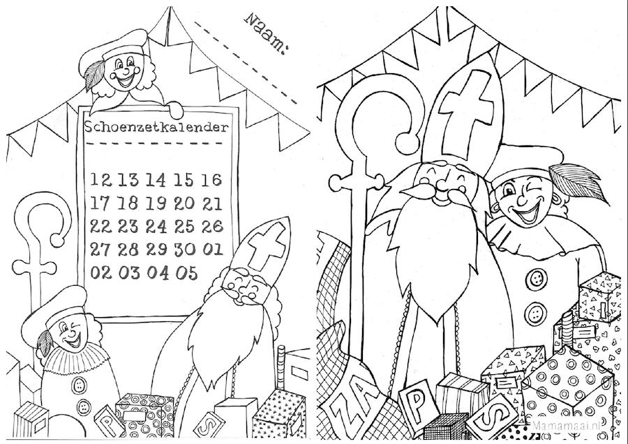 Quatang Gallery- Hij Komt Hij Komt Sinterklaas Is In Het Land Mama Maai Sinterklaas Knutselen Sinterklaas Aftelkalender
