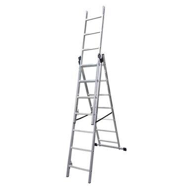 Drabina Aluminiowa Basic 3 X 7 Multisystem Drabiny Budowlane W Atrakcyjnej Cenie W Sklepach Leroy Merlin Ladder Merlin