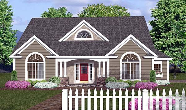 House Plan 92373 | Country Traditional Plan with 1798 Sq. Ft., 3 Bedrooms, 3 Bathrooms, 2 Car Garage at family home plans#image-slideshow