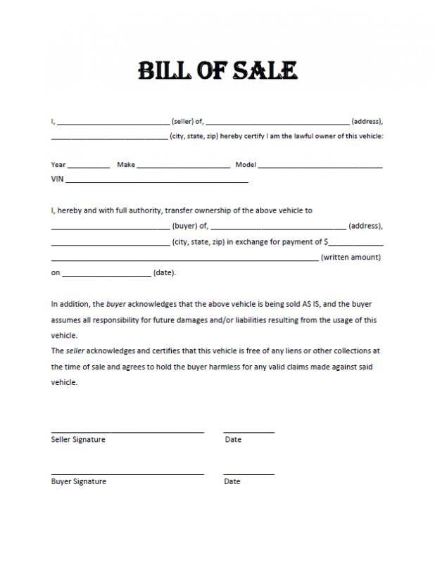 Motorcycle Bill Of Sale Pdf In 2020 Bill Of Sale Template Bills Bill Of Sale Car