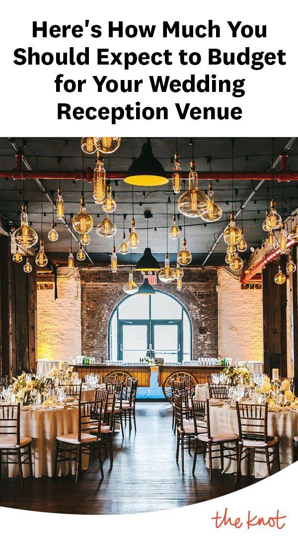 This Is the Average Cost of a Wedding Reception Venue