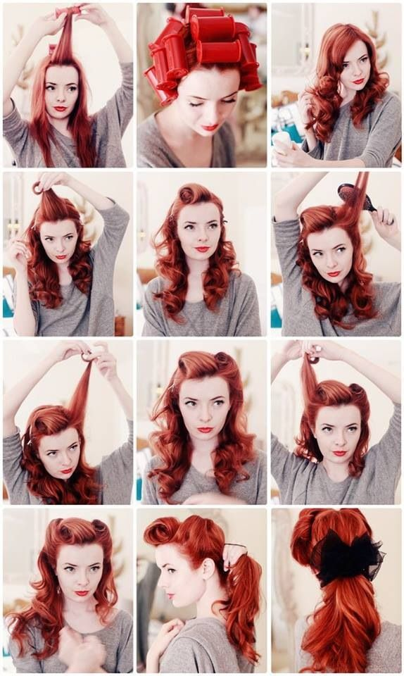 7 Easy Retro Hair Tutorials From Pinterest Hair Styles Pinterest