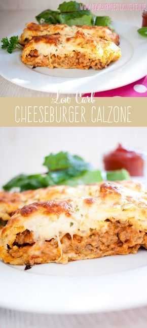 Photo of Low carb cheeseburger calzone