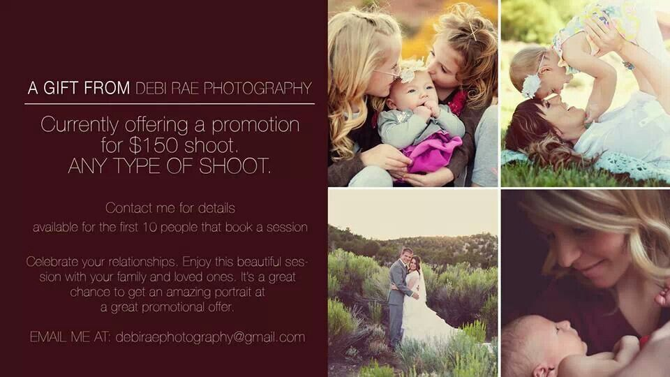Great promotion with Debi Rae Photography