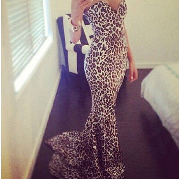 Mermaid leopard dressss! i need somewhere to wear this