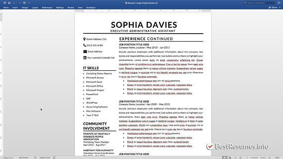 A Good Resume Magnificent Resume Template With A Cover Letter And References Template Get A .