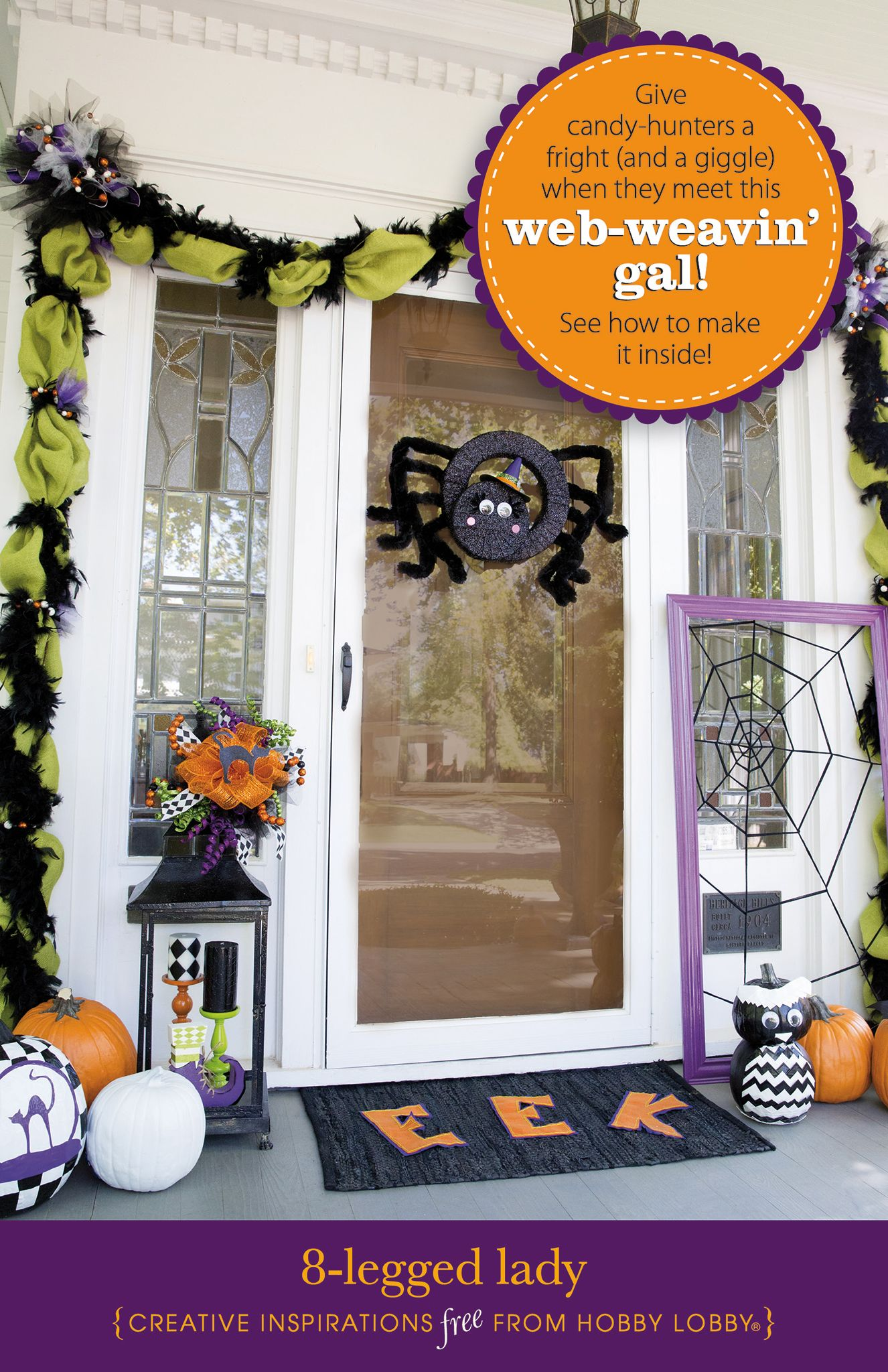 HobbyLobby Projects - 8-Legged Lady kids Pinterest Legs - Hobby Lobby Halloween Decorations