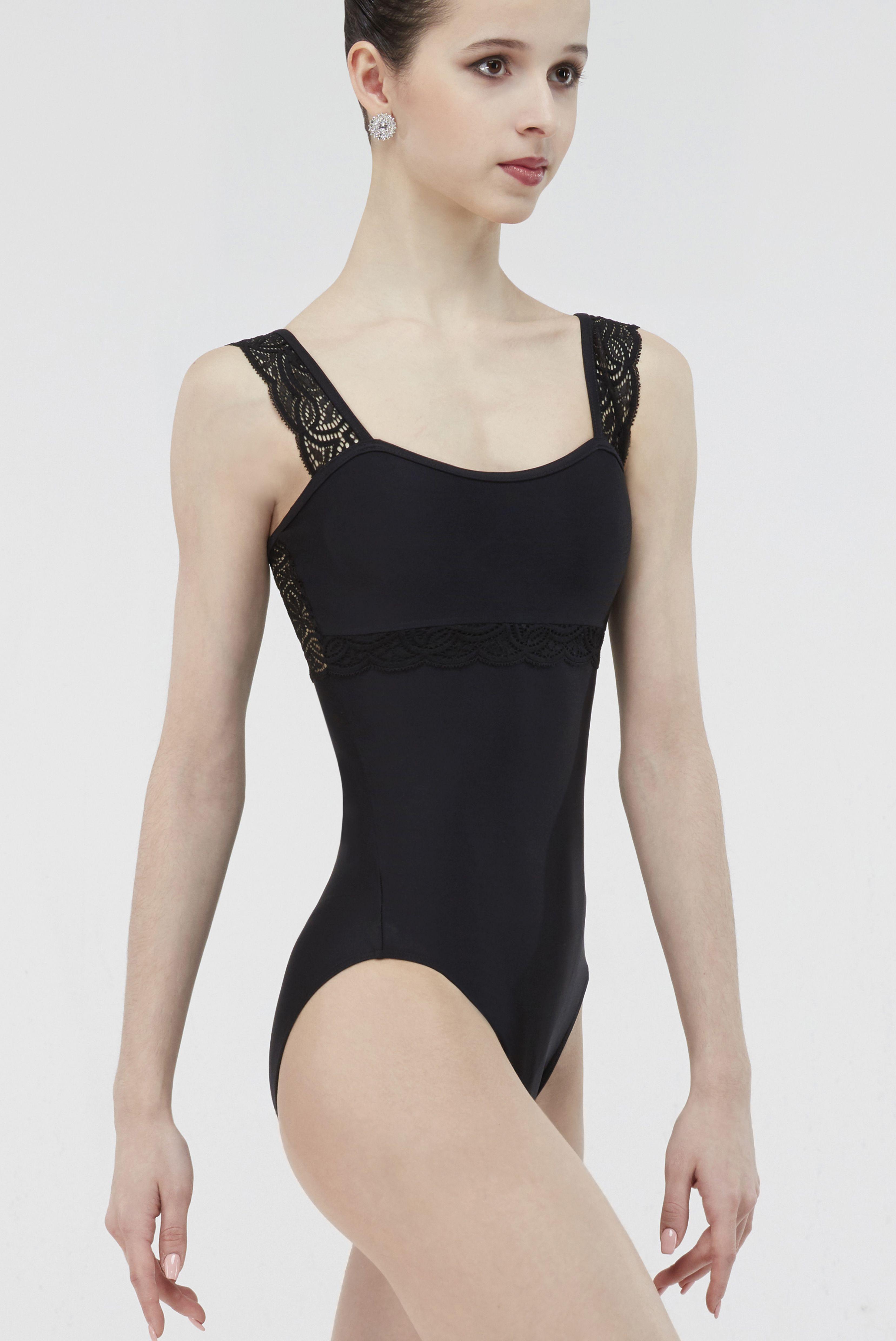 Women Ballet Leotard Lace Floral One Piece Bodysuit Dance Gymnastics Costume Top