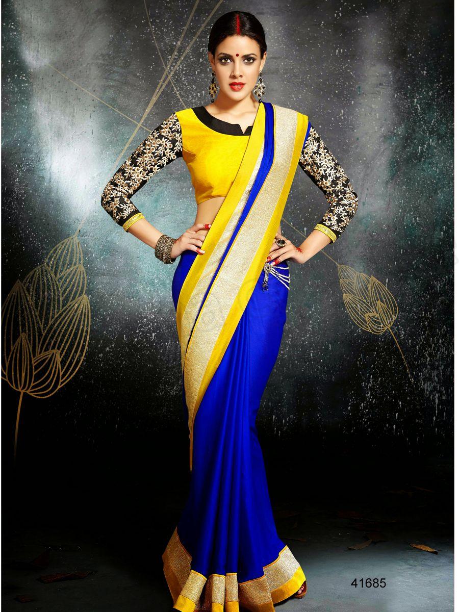 Designer sareesblueindian wear desi fashionnatasha couture
