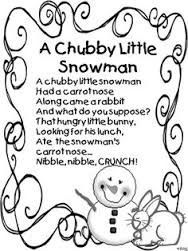 photo relating to Chubby Little Snowman Poem Printable named Pin upon Literature