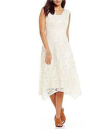 e9d73094f1f Reba Embroidered Applique Lace Dress  Dillards