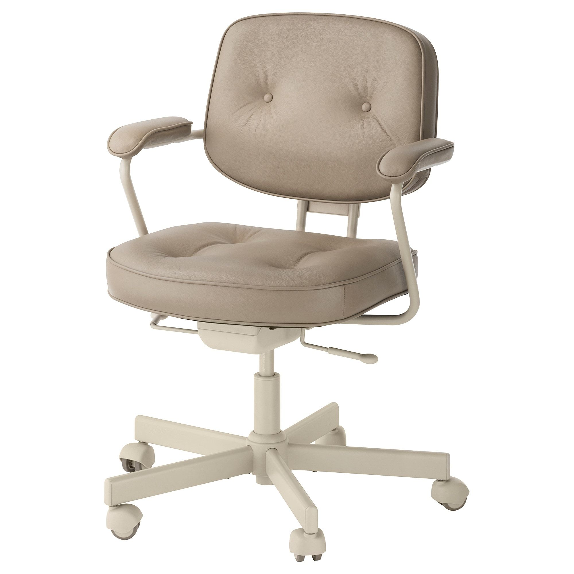 Alefjall Office Chair Grann Beige Swivel Chair Office