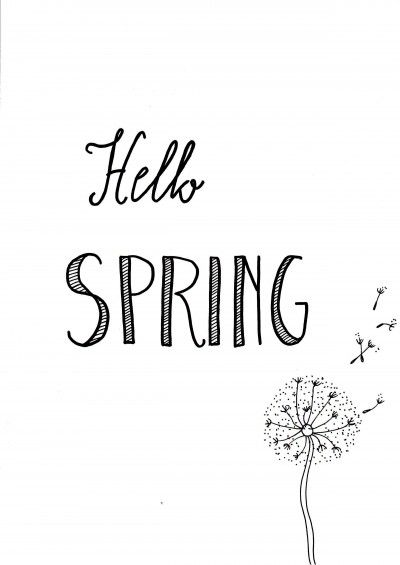 Citaten Schrijven Free : Free printable for the home black and white hello spring