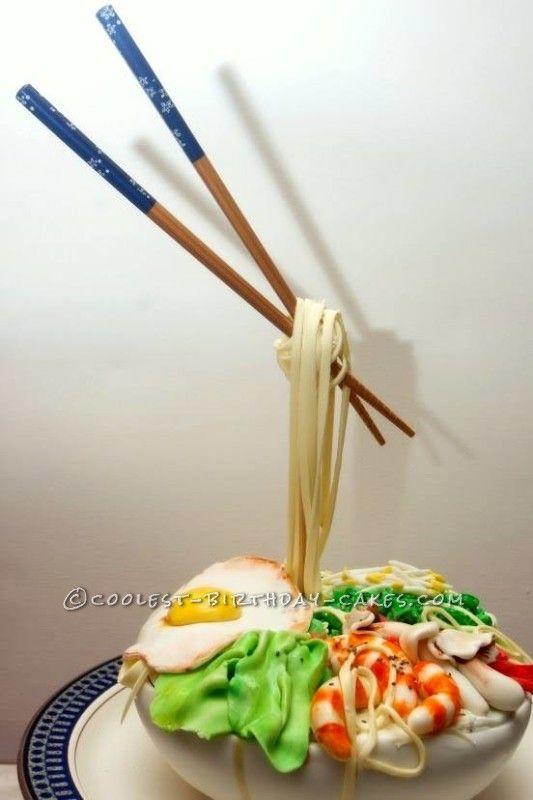 Gravity Bowl gravity defying thai noodle bowl cake | bowl cake, thai noodles