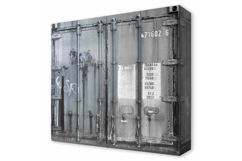 Pol Power Container Schrank Grau 4 Turig Mobel Letz Ihr Online Shop Kleiderschrank Grau Shabby Chic Kleiderschrank Schrank