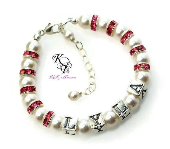 One of our Best Selling Baby Name Bracelets! Personalized ...
