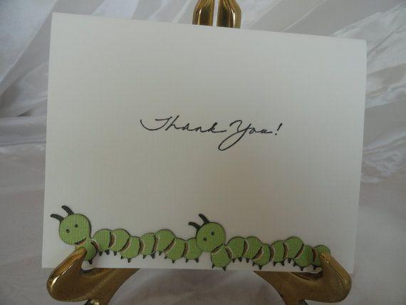 Thank You Caterpillar Note Cards