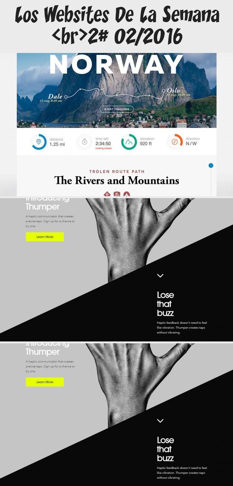 Los Websites De La Semana 2 02 2016 In 2020 Web Design Norway Oslo Travel App