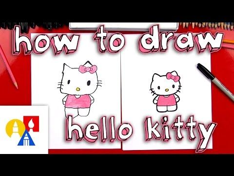 How To Draw Hello Kitty New Lesson With Color Youtube Art For Kids Hub Hello Kitty Art For Kids