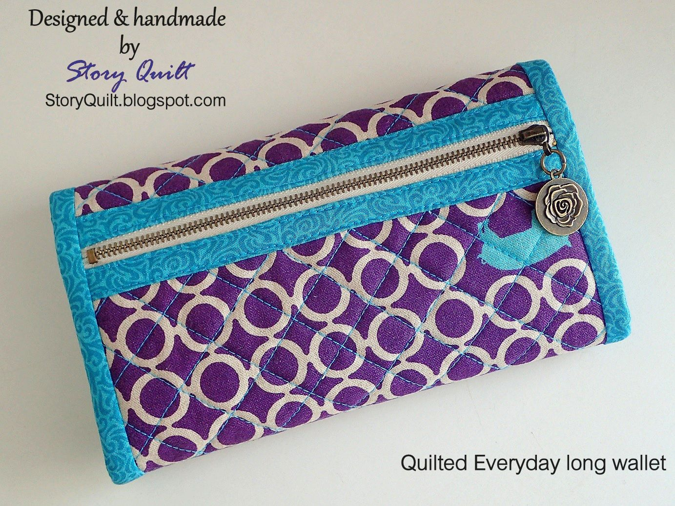 Quilted long wallet, women's wallet, handbag, quilted clutch, fabric clutch, multipurpose wallet   If you are looking for a substantial and super stylish wallet or an on-the-go coin purse to keep your cash or credit cards in order beside inject a little personality into your daily essentials.  Then this is a strongly recommended wallet  for you.   This wallet was made with love; from selecting the fabrics to carefully machine quilted and sewing the binding until completion.  ^v^