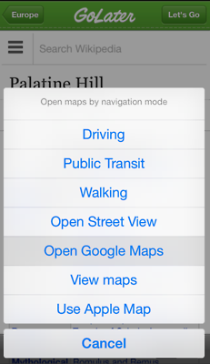 GoLater : iOS APP to remember the places to go
