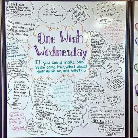 One Wish Wednesday | whiteboard ideas | Pinterest | Schule