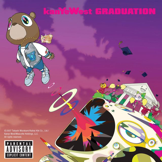 Stronger By Kanye West Was Added To My Starred Playlist On Spotify Kanye West Album Cover Graduation Album Rap Album Covers