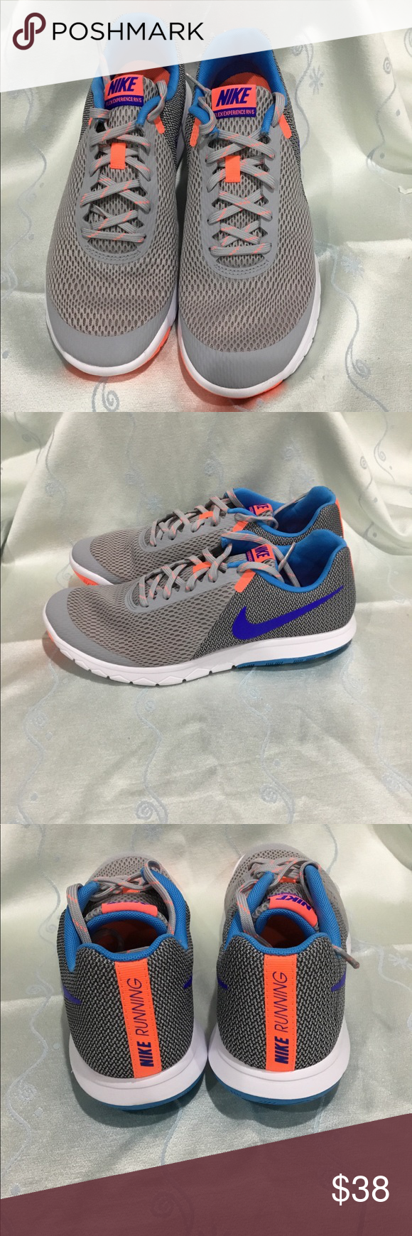 df0720f3093 Nike Women s Flex Experience RN 5 running shoes Brand new Nike Women s Flex  Experience RN 5 running shoes. Color  wolf grey racer blue. Nike Shoes  Athletic ...
