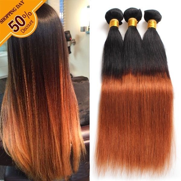 Hot Sale Cheap Price Ombre Color T1b 30 Straight Virgin Human Hair