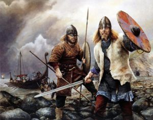 The First Scandinavian Settlers In North West England Viking Age Anglo Saxon Kings Warriors Illustration