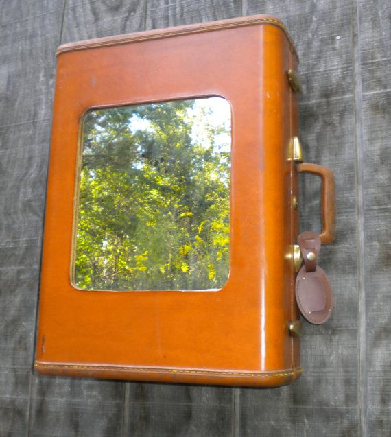 Upcycled Bathroom Ideas: Upcycle Vintage Luggage (which I Love) Into Usable House