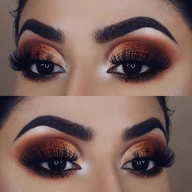 Photo of we have a beautiful bronzed makeup idea. We love the colors used in this eye loo… – Schönheit
