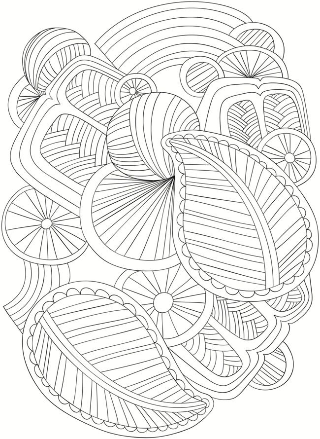 Welcome to Dover Publications Creative Haven Simply Abstract Stained ...