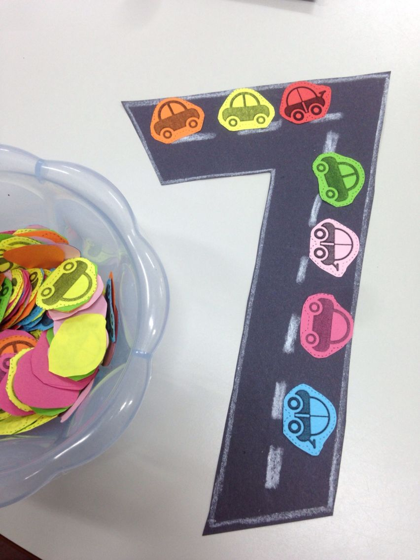 Number 7 Craft Preschool Number Crafts Numbers Preschool Number Crafts